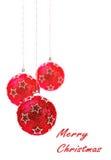 圣诞节,红色圣诞节球 图库摄影