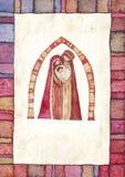 圣诞节: 耶稣基督,约瑟夫,玛丽 免版税库存图片