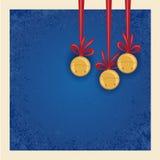 圣诞节/冬天背景-门铃。 免版税库存照片