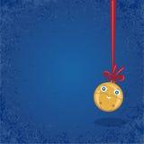 圣诞节/冬天背景-门铃。 库存图片