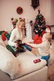 圣诞节系列愉快的时间 库存照片