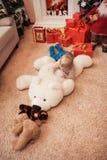 圣诞节系列愉快的时间 库存图片