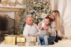 圣诞节系列愉快的最近的结构树 免版税库存图片