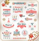 圣诞节类型设计 皇族释放例证