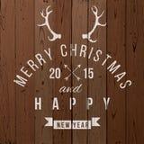 圣诞节类型设计 免版税库存照片