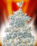 圣诞节货币结构树 免版税图库摄影