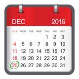 圣诞节2017日历传染媒介设计 免版税库存图片