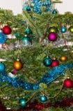 圣诞节结构树装饰 2015个新年 库存照片