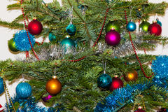 圣诞节结构树装饰 2015个新年 免版税库存照片