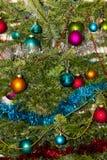 圣诞节结构树装饰 2015个新年 库存图片