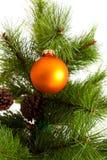 圣诞节结构树装饰 2016个新年 免版税图库摄影