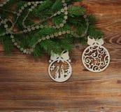 圣诞节结构树装饰 库存图片