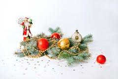 圣诞节结构的冷杉分支 库存照片