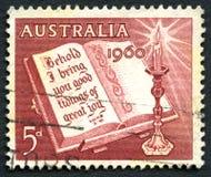 圣诞节1960澳大利亚人邮票 库存图片