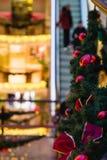 圣诞节购物中心购物结构树 库存图片