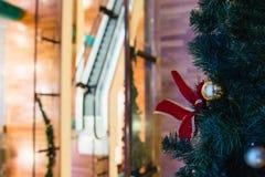圣诞节购物中心购物结构树 库存照片
