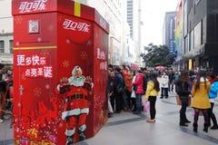 圣诞节购物在成都 免版税库存照片