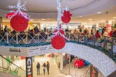 圣诞节购物在瑞典 库存照片