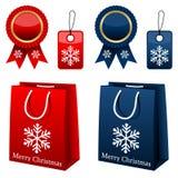 圣诞节购物收集 免版税库存照片