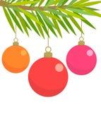 圣诞节玻璃中看不中用的物品 向量例证