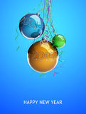 圣诞节玻璃球戏弄2015个新年 免版税库存图片
