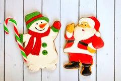 圣诞节 礼物,一个假日的姜饼概念 免版税库存照片
