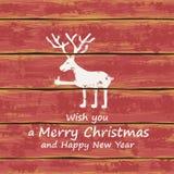 圣诞节滑稽的deer.for设计的一个设计 免版税库存图片