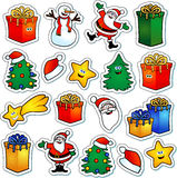 圣诞节贴纸 免版税库存照片