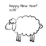 圣诞节绵羊概述 库存照片