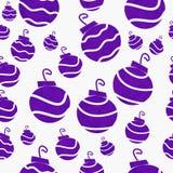 圣诞节紫色减速火箭的装饰品织品背景 库存图片