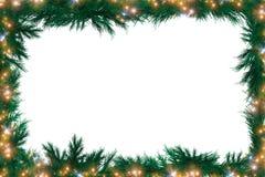 圣诞节绿色框架 库存照片