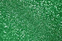 圣诞节绿色闪闪发光背景 库存照片