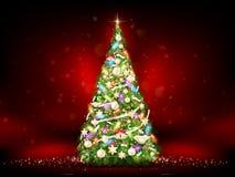 圣诞节绿色结构树 10 eps 免版税库存照片
