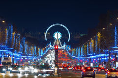 圣诞节巴黎 免版税库存图片