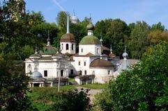 圣诞节(Pyatnitskaya)教会在城市Staritsa特维尔地区,俄罗斯 免版税库存照片
