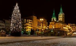 圣诞节- Zilina -斯洛伐克 库存图片