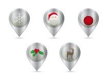 圣诞节3D针 免版税库存图片