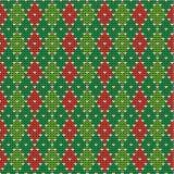 圣诞节argyle背景,无缝的模式incl 免版税库存照片