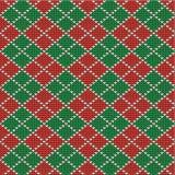 圣诞节argyle背景,无缝的模式incl 库存图片