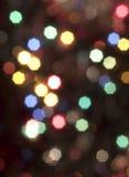 圣诞节blured光 图库摄影