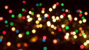 圣诞节Bokeh光 免版税库存照片