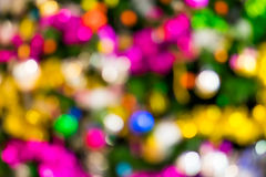 圣诞节bokeh背景 免版税库存照片