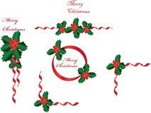 圣诞节bordersgreetings 免版税库存照片