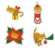 圣诞节CAT 库存例证