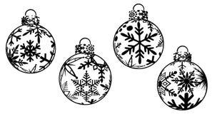 圣诞节clipart装饰品 免版税库存图片