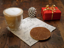 圣诞节coffe中断 免版税库存图片
