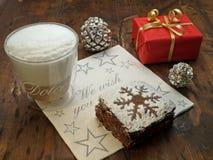 圣诞节coffe中断 免版税库存照片