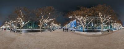 圣诞节decorationon树 免版税库存图片