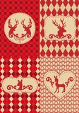圣诞节deers仿造向量 免版税库存照片