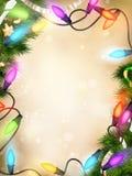 圣诞节defocused光 10 eps 库存照片